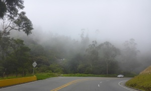 Heading into the clouds on Ruta 40, Colombia