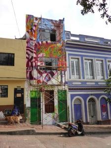 Work in progress, La Candelaria graffiti, Bogota, Colombia