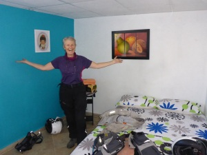 Our room at El Hangar hostal, Medellin airport