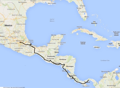 Our Central America dash
