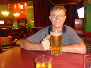 Anthony enjoying a beer at Boca del Rio
