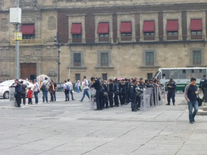 Riot police on Zocalo