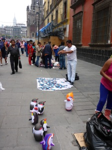 Illegal sellers in Mexico City