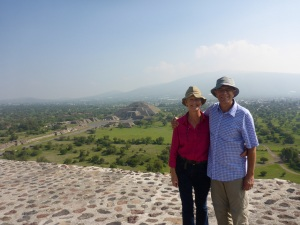 From the top of the Pyramid of the Sun, Teotihuacan, Mexico
