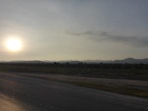 Heading to Monterrey, Mexico, an hour out of San Luis Potosi