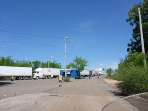 Honduras border post