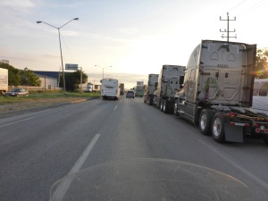 New trucks heading for the US from Monterrey