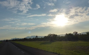 Another glorious morning as we leave Monterrey