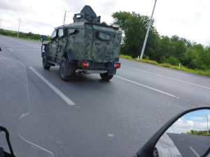 Mexican military  armored car