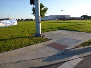 Pedestrian crossing to nowhere in La Grange, Tx