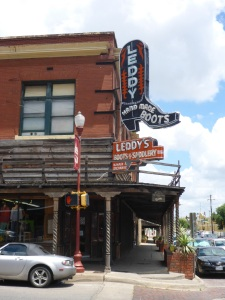 Leddy's boot store, Fort Worth