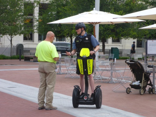 Police patroling downtown