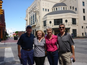 With Bob and Pam outside the Fort Worth theatre