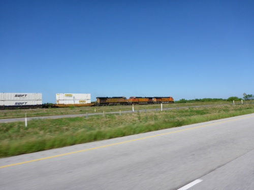 BNSF train in Texas heading west