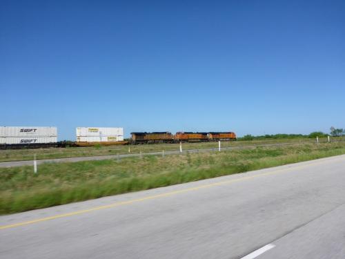 BNSF train in Texas heading west