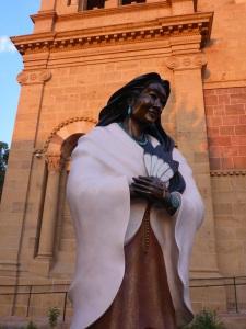 Statue of Kateri Tekakwitha, first North American Idian saint