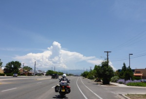 Mountain storms developing towards Taos