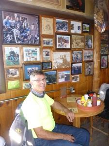 Motorcycle memorabilia Thunderbird Inn, Florissant Colorado