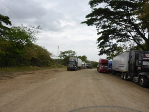 Our wrong turn left looking for Costa Rica exit border post