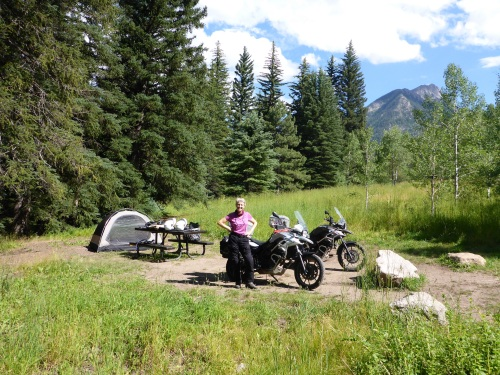 Camping at McClure Pass