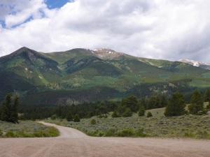Looking towards Mt Elbert, Colorado