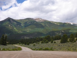 Looking towards Mt Elbert, Colorado