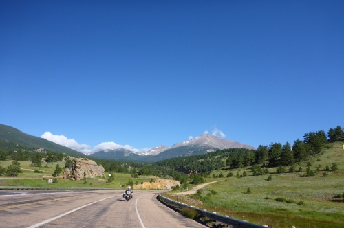 On our way to Estes Park