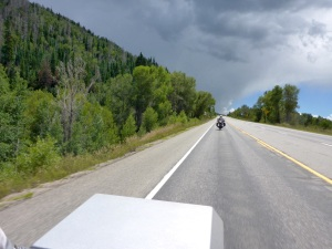 Managed to dodge this storm as we approach Steamboat