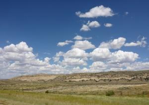 Interesting rock formations along US287 to Casper