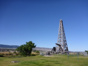 Oil was found near Casper in 1851 and was mixed with flour  sold to westwards bound pioneers as axle grease