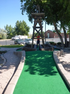 Hole in 1 at Casper's mini golf
