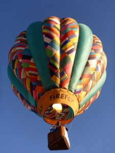 Up, Up and away in my beautiful, my beautiful balloon.......