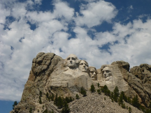 George Washington, Thomas Jefferson, Theodore Roosevelt and Abraham Lincoln.