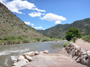 A stop along the Arkansas river