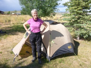 Our camping site behind the Inn at Tomichi Village outside Gunnison