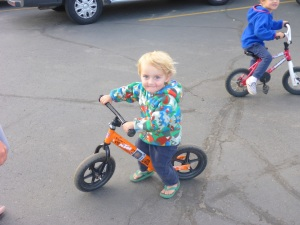 Justin's starting early on a KTM
