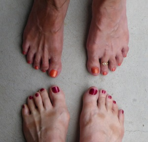 Happy toes - girls have to be girls - with Karen