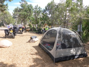 Our campsite outside Durango