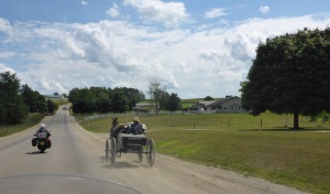 Amish horse and buggy near Apple Creek, Ohio