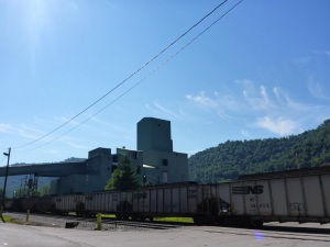 One of many coal plants along the Kanawha River