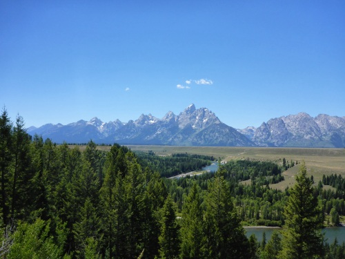 Grand Tetons, our first view in 30 years.