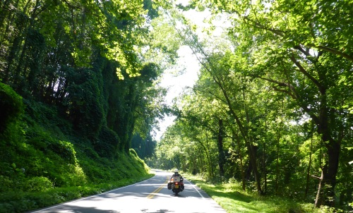 Riding along the Valley Ridge Road West Virginia