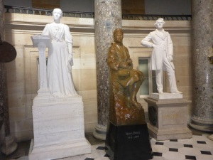 Rosa Parks amongst the Capitol statues
