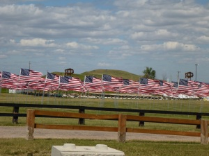 Field of Flags at the Buffalo Chip campground to honour those who serve in the military