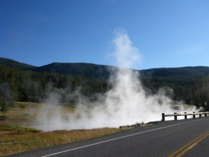Steam  at Yellowstone