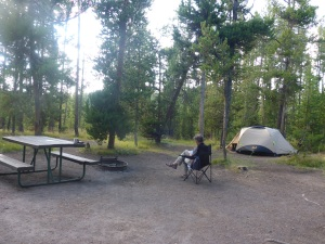 Our camping spot in Yellowstone