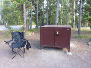 Bear box for each camping spot in Yellowstone