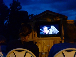 Watching Close Encounters of a 3rd Kind at Devil's Tower
