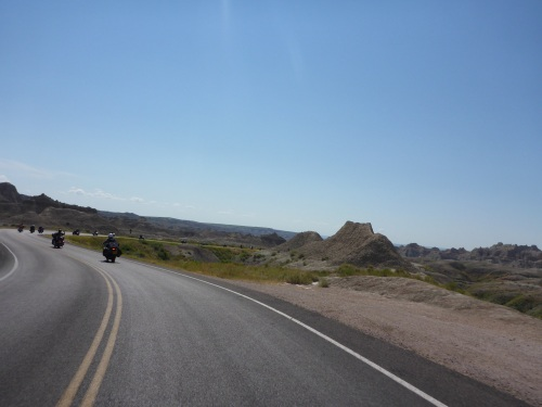 Badlands National Park - so many motorcyclists