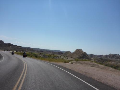 Badlands National Park - so many motorcyclists